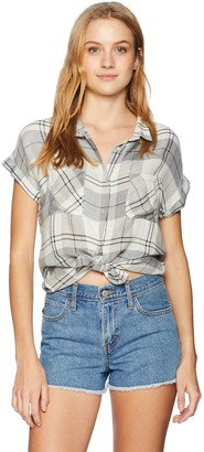 Silver Jeans Co. Women's Shiloh-Rolled Up Plaid Shirt