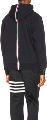 Thom Browne Zipper Hoodie in Navy | FWRD