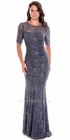 Decode 1.8 Plus Size Sparkling Lace Fitted Evening Gown