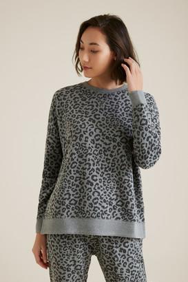 Seed Heritage Animal Oversized Hi-Lo Sweater