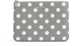 Comme des Garcons Wallets Grey Polka Dots Printed Zip Pouch