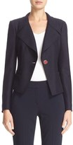 Armani Collezioni Women's Boiled Wool One-Button Jacket