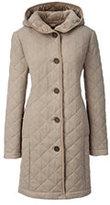 Classic Women's Fleece Lined Quilted Wool Coat Navy