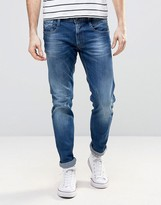 Replay Anbass Slim Fit Jean Mid Blue Wash