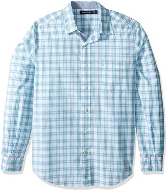 Nautica Men's Long Sleeve Large Plaid Button Down Shirt