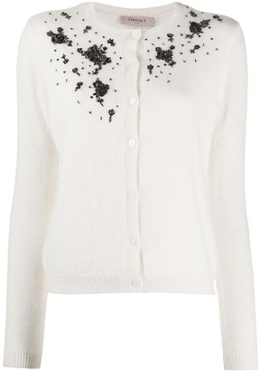 Twin-Set Embroidered Buttoned Cardigan