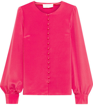 Goat Jude Button-detailed Silk Crepe De Chine Blouse