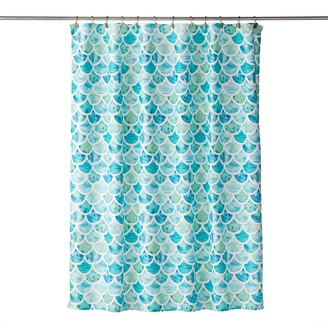 Saturday Knight, LTD Ocean Watercolor Scales Shower Curtain
