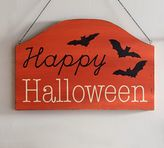 Pottery Barn Happy Halloween 3D Wall Art Sign