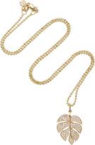 Sydney Evan Monstera Leaf Charm Necklace