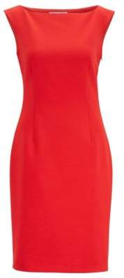 BOSS Slim-fit dress with rear cut-out detail