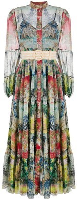 Zimmermann Juliette Spliced-print tiered dress