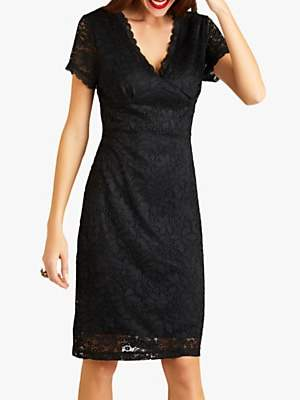 Yumi Party Lace Dress, Black