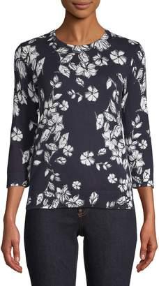 Lord & Taylor Kira Floral-Print Sweater