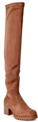 Scoop Womens Adrienne Over The Knee Lug Boots