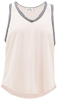The Upside Lea V-neck Perforated-jersey Tank Top - Womens - Light Pink