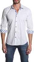 Jared Lang Solid Long Sleeve Semi-Fitted Shirt