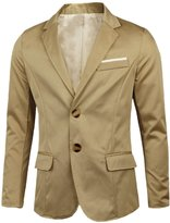 uxcell Notched Lapel Long Sleeves Casual Blazer for Men