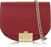 Victoria Beckham Ruby Red Leather Nano Box Crossbody Bag w/Chain