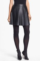Trina Turk 'Lanni' Leather Flare Skirt