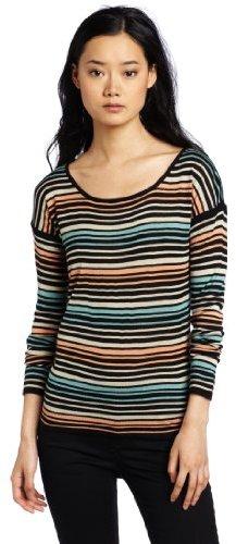 Kensie Women's Drapey Striped Sweater