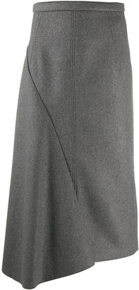 No.21 Asymmetric Draped Midi Skirt
