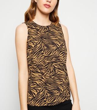New Look Tiger Print Sleeveless Top
