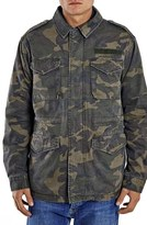 Topman Men's Camo Print M-65 Field Jacket With Plush Lining