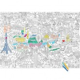 Omy Giant Paris Colouring-in Poster