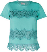 RED Valentino lace applique T-shirt - women - Polyamide/Viscose - S