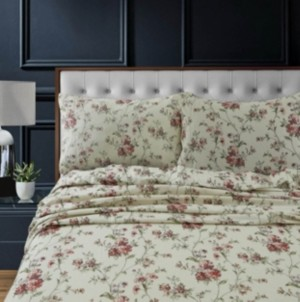 Tribeca Living Dollhouse Floral Heavyweight Cotton Flannel Printed Extra Deep Pocket Twin Sheet Set Bedding