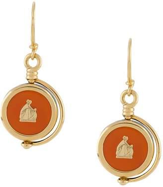 LANVIN logo detail drop earrings