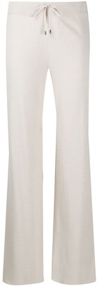 Malo Knitted Flared Trousers