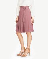 Ann Taylor Petite Side Tie Pleated Skirt