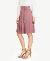 Ann Taylor Side Tie Pleated Skirt