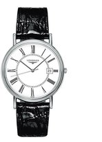Longines Men's La Grande Classique 38mm Black Leather Band Steel Case Quartz Analog Watch L4.790.4.11.2