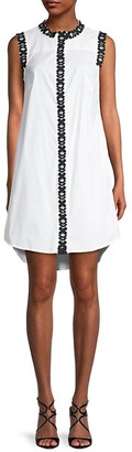 Milly Lace-Trim Cotton-Blend Shirtdress