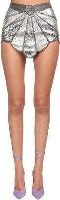 ATTICO Sequined Deco Mini Skirt