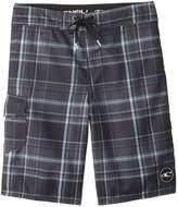 O'Neill Boys' Santa Cruz Plaid Boardshort (820) - 8154786
