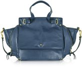 Jerome Dreyfuss Johan Petrol Blue Leather Shoulder Bag