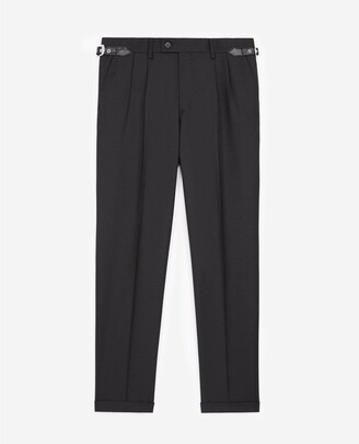 The Kooples Black wool trousers with western belt