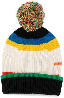 Stella McCartney pom pom beanie hat