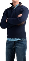 Viyella Mock Neck Sweater - Hidden Zip Neck (For Men)
