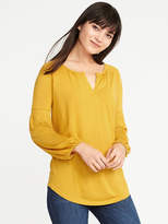 Old Navy Relaxed Smocked-Trim Top for Women