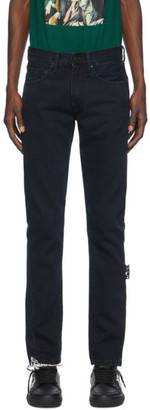 Off-White Black Diag Slim Jeans