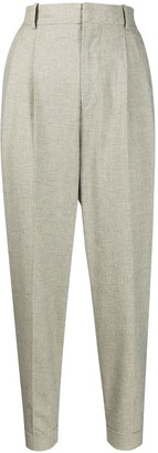 Etoile Isabel Marant Micro Check Cropped Trousers
