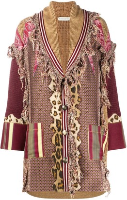 Etro Frayed Oversized Cardi-Coat