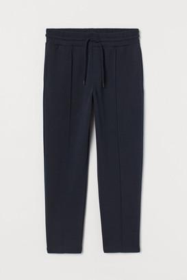 H&M Cropped Regular Fit Sweatpants - Blue