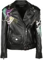 Moschino Leather Biker Jacket