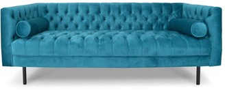 Calibre Furniture Guildwood 3 Seat Chesterfield Sofa Turquoise Velvet